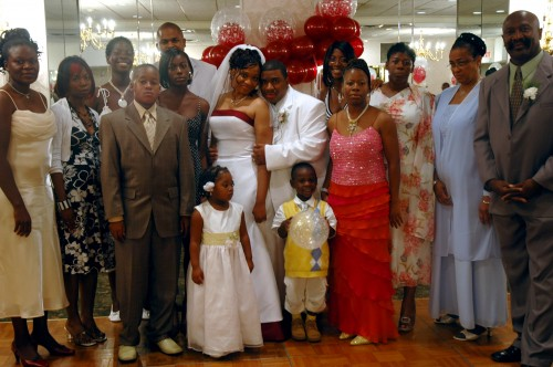 My wife's family at our wedding