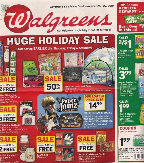 Walgreens Black Friday Ad 2010 Page 01
