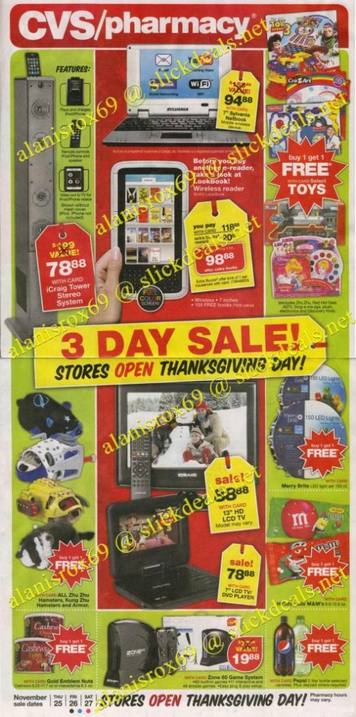 CVS Black Friday 2010 Ad 1