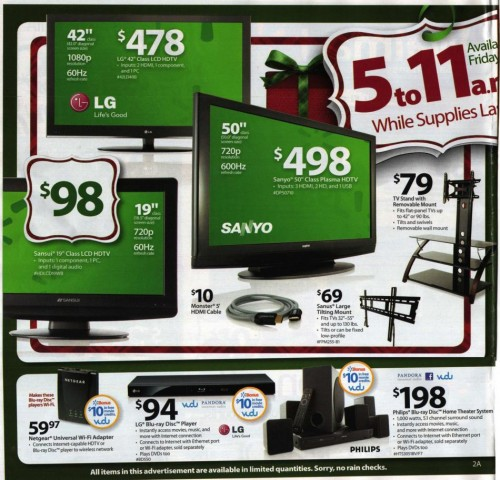 Walmart Black Friday Ad 2010 Page 2