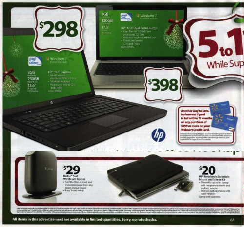 Walmart Black Friday Ad 2010 Page 6