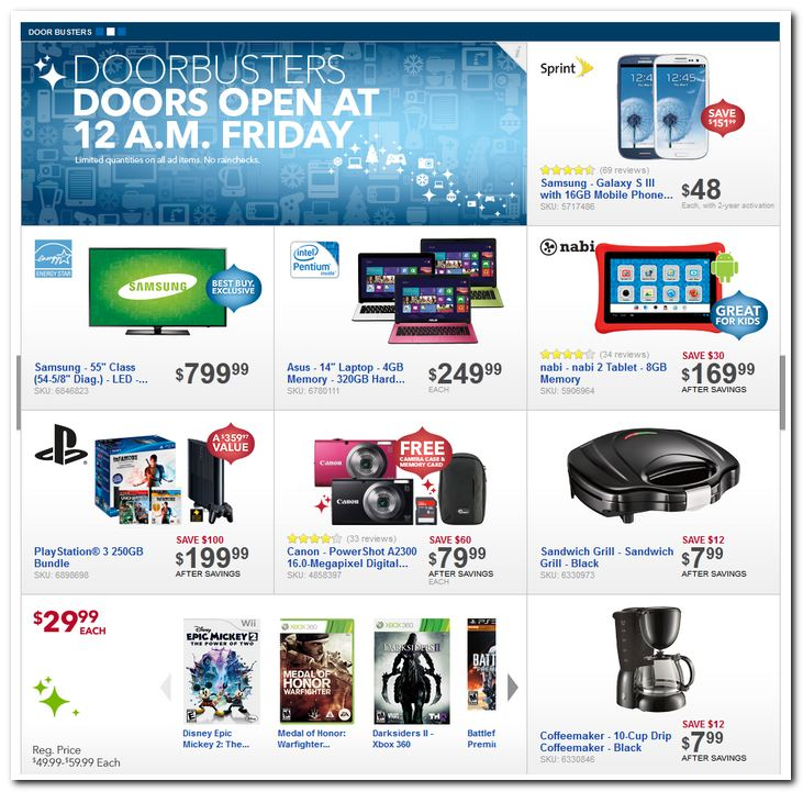 Best Buy Black Friday 2012 Deals Ad Scan