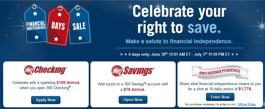 Capital One 360 Independence Bonus