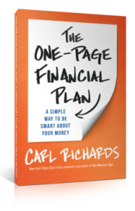 One-Page Financial Plan Book