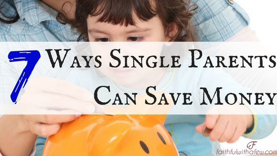 Single Parents Save Money
